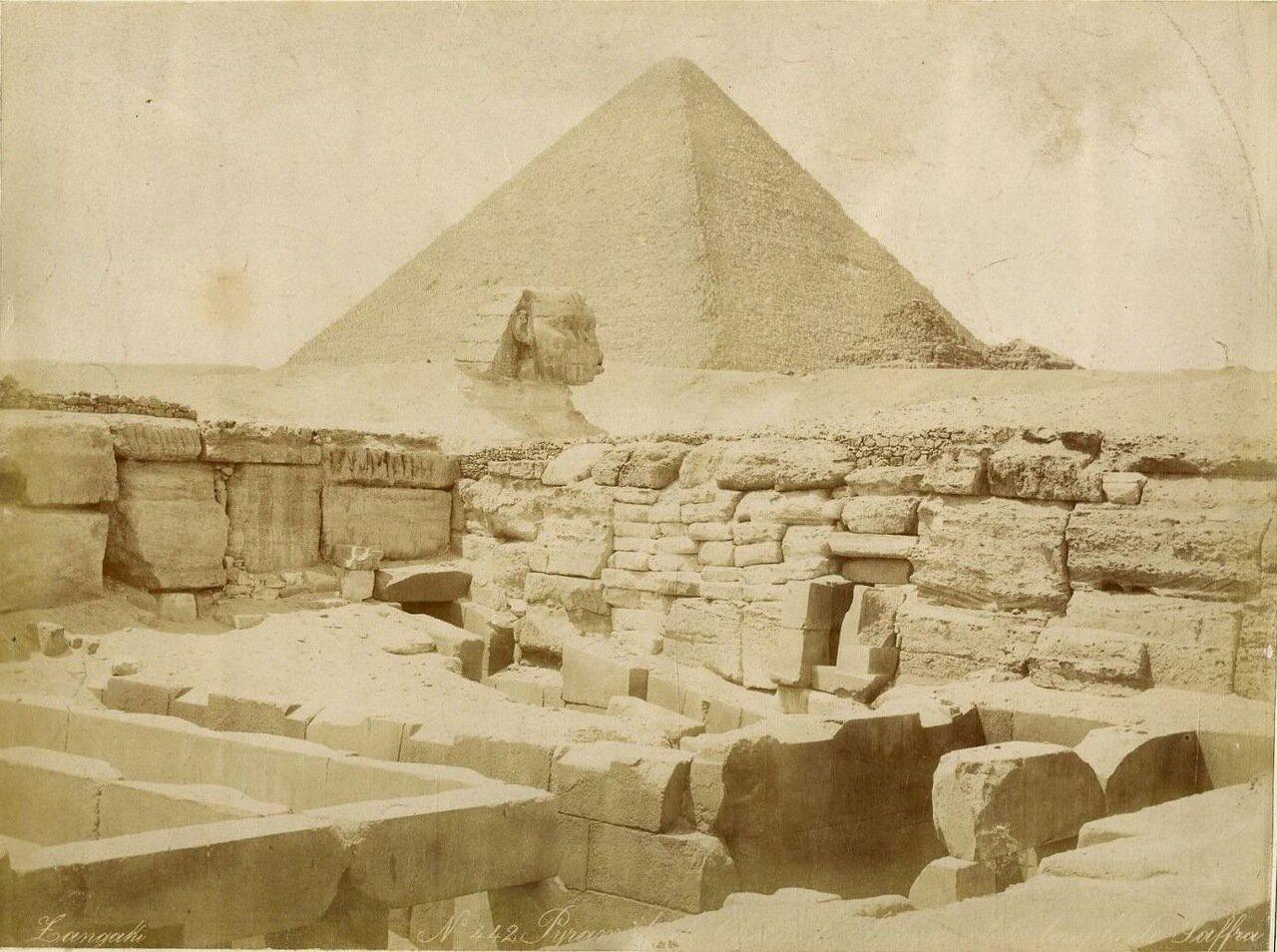 Гиза. Пирамида Хеопса и Сфинкс. 1880-е