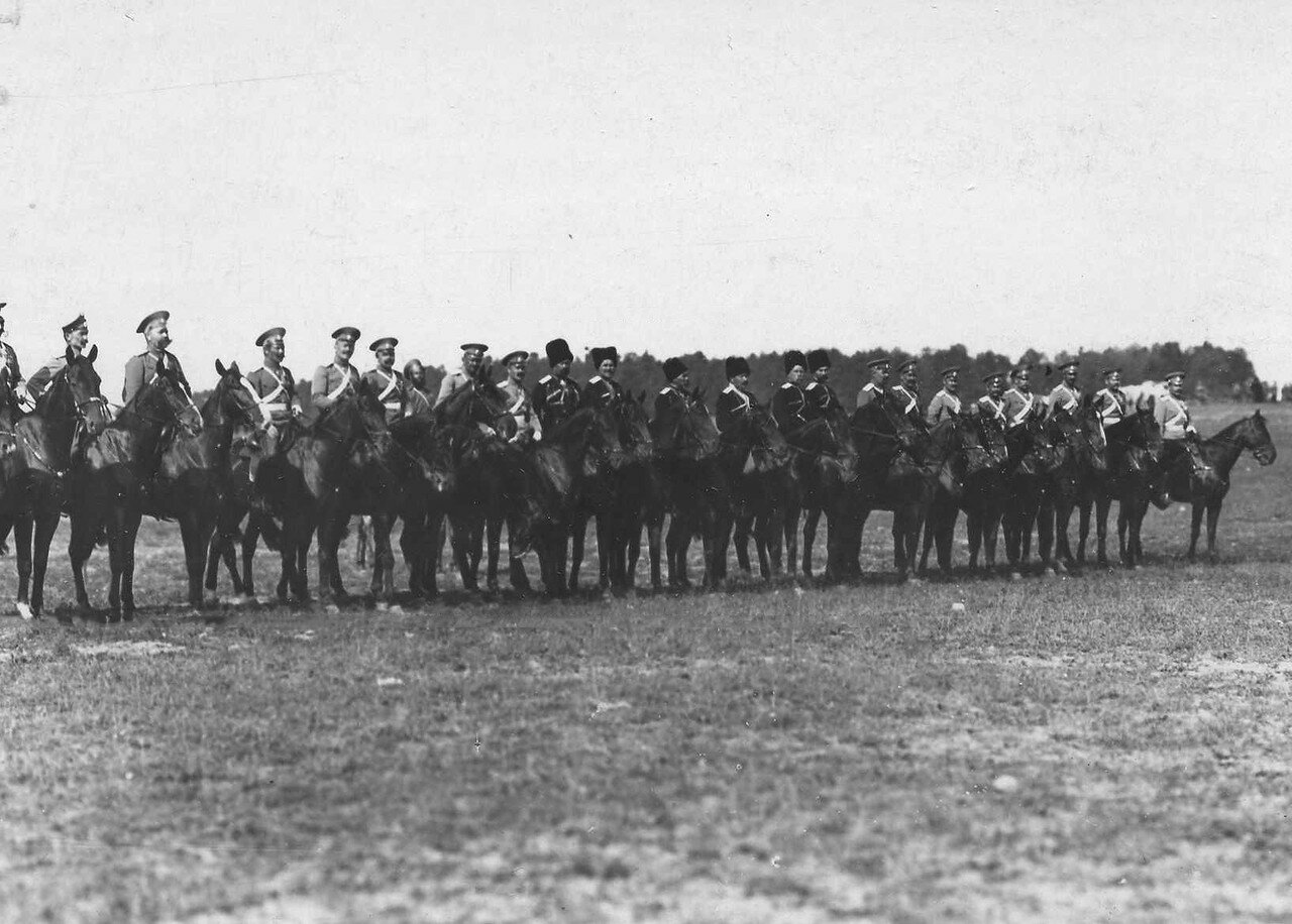 103. Группа конных офицеров на параде