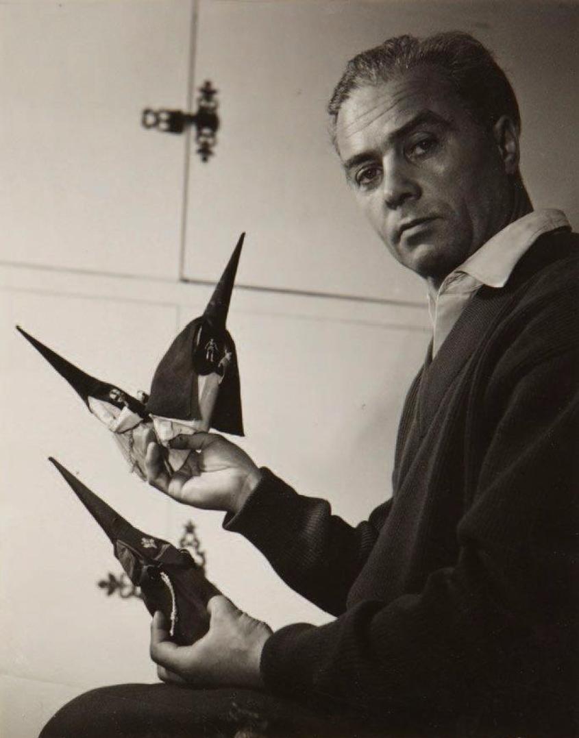 1960. Портрет писателя Пьера Беарна