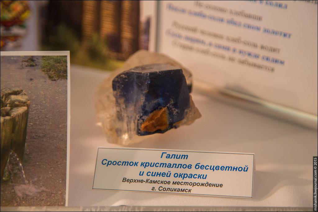 Выставка соли в Уральском Геологическом Музее