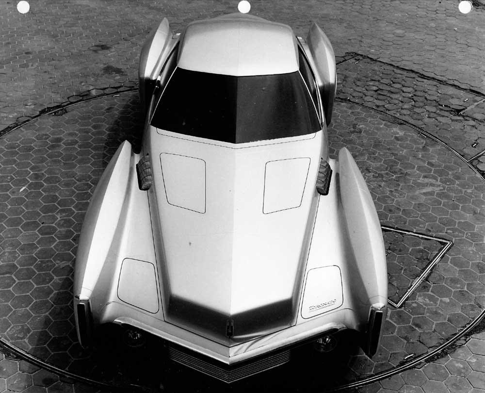 Oldsmobile Toronado clay model with four distinct fender forms. Pretty dramatic.jpg
