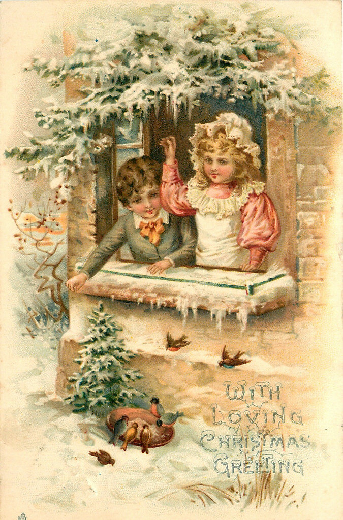 Винтажные открытки рождественские 68