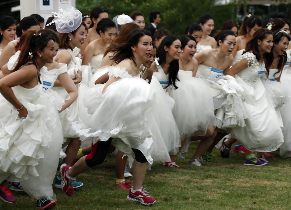 Свадебный Забег В Бангкоке (7 Фото)