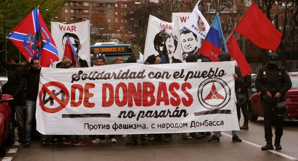 Картинки по запросу В Мадриде поддержали воюющий с Украиной Донбасс