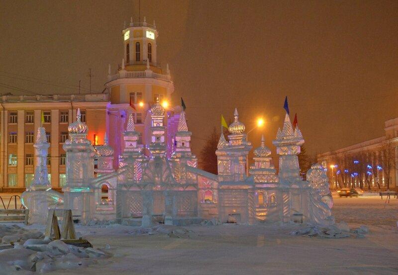Зимний вечер в Кемерове