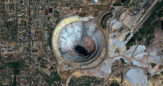 за алмазами в недра земли