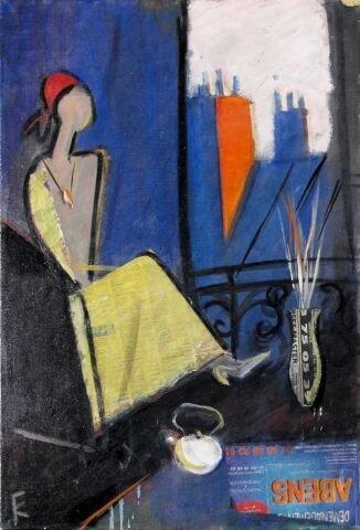Жанна в Париже, 2007 г. Холст. масло, 70х50 см.