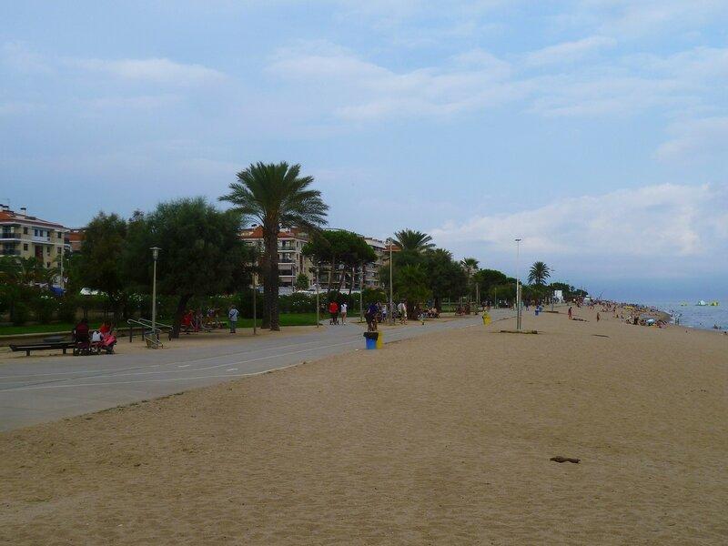 Пляж Пинеда де Мар, Испания (Beach Pineda de Mar, Spain)