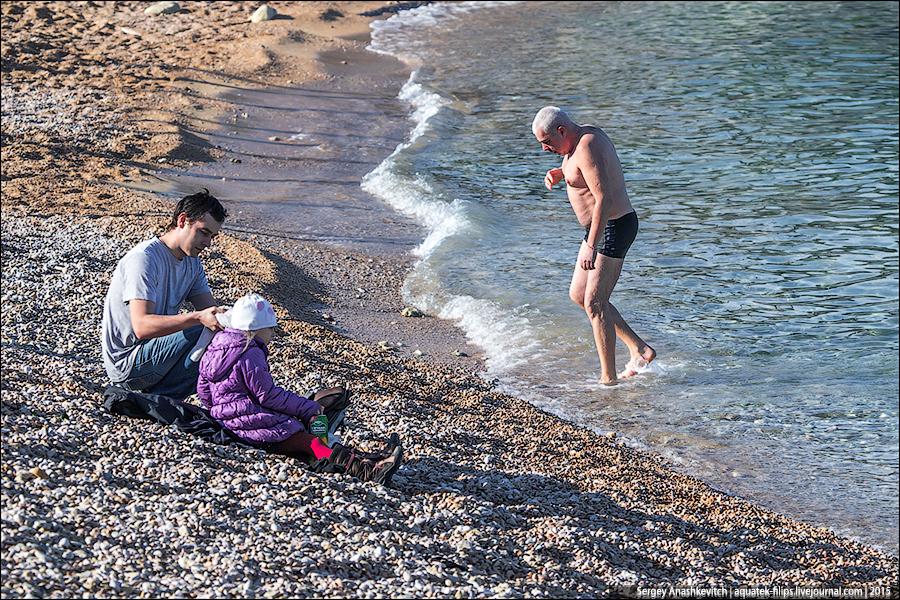 Не сезон. Пляж в Парке Победы