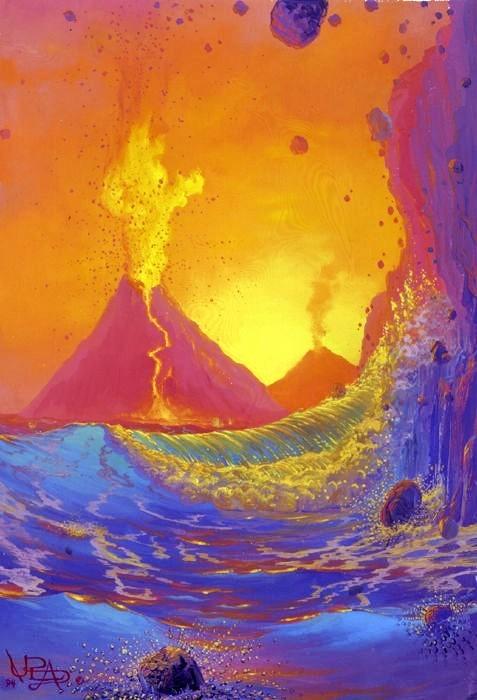 Морской пейзаж художника Лорена Адамса