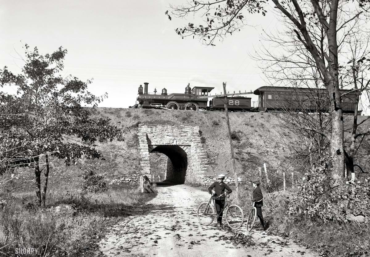 Железные дороги конца 19-го - начала 20-го века на снимках американских фотографов (27)