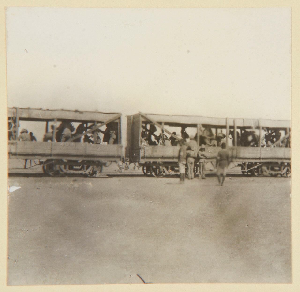 Август 1898. 21-й Уланский полк покидает Вади-Хальфа