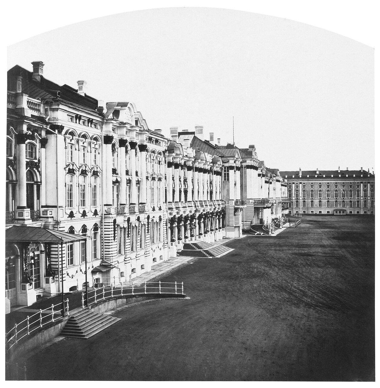 Фасад Екатерининского дворца. 1859