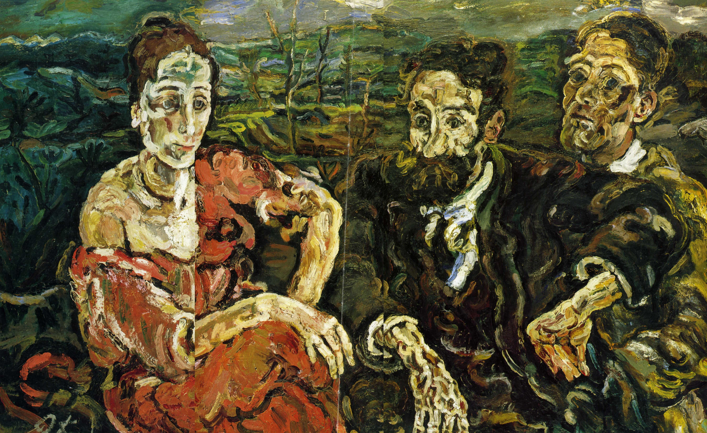 Оскар Кокошка (1886 – 1980), австрийский экспрессионист.  1916. «Эмигранты»