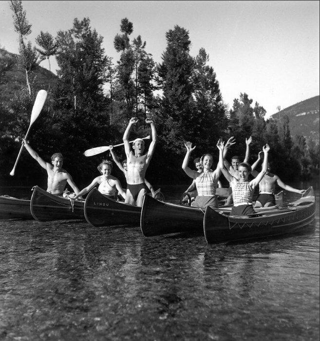 1939. На реке Дордонь