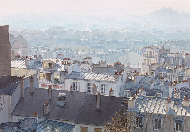 Brume de chaleur sur les toits de Paris