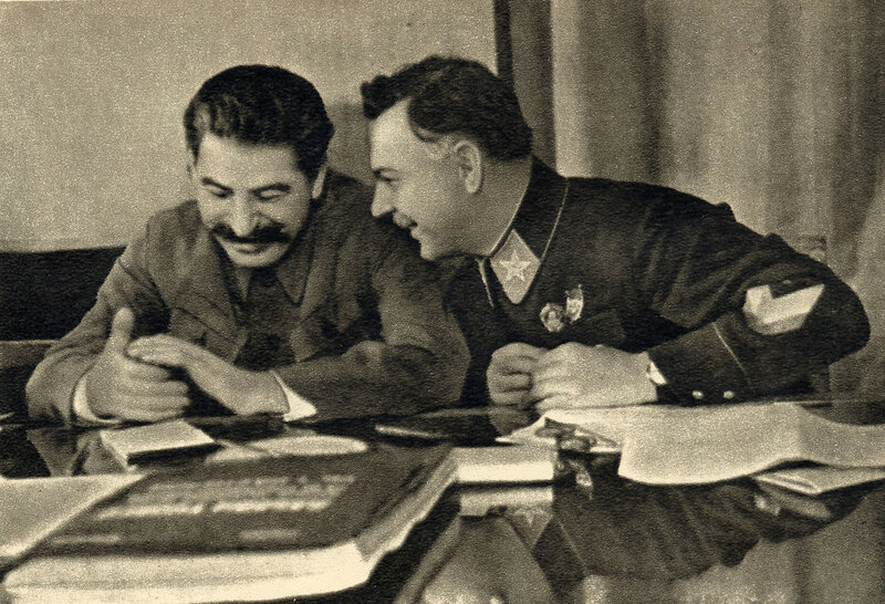 Joseph Stalin and Kliment Voroshilov 1935.jpg