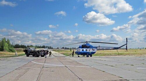Заправка вертолета