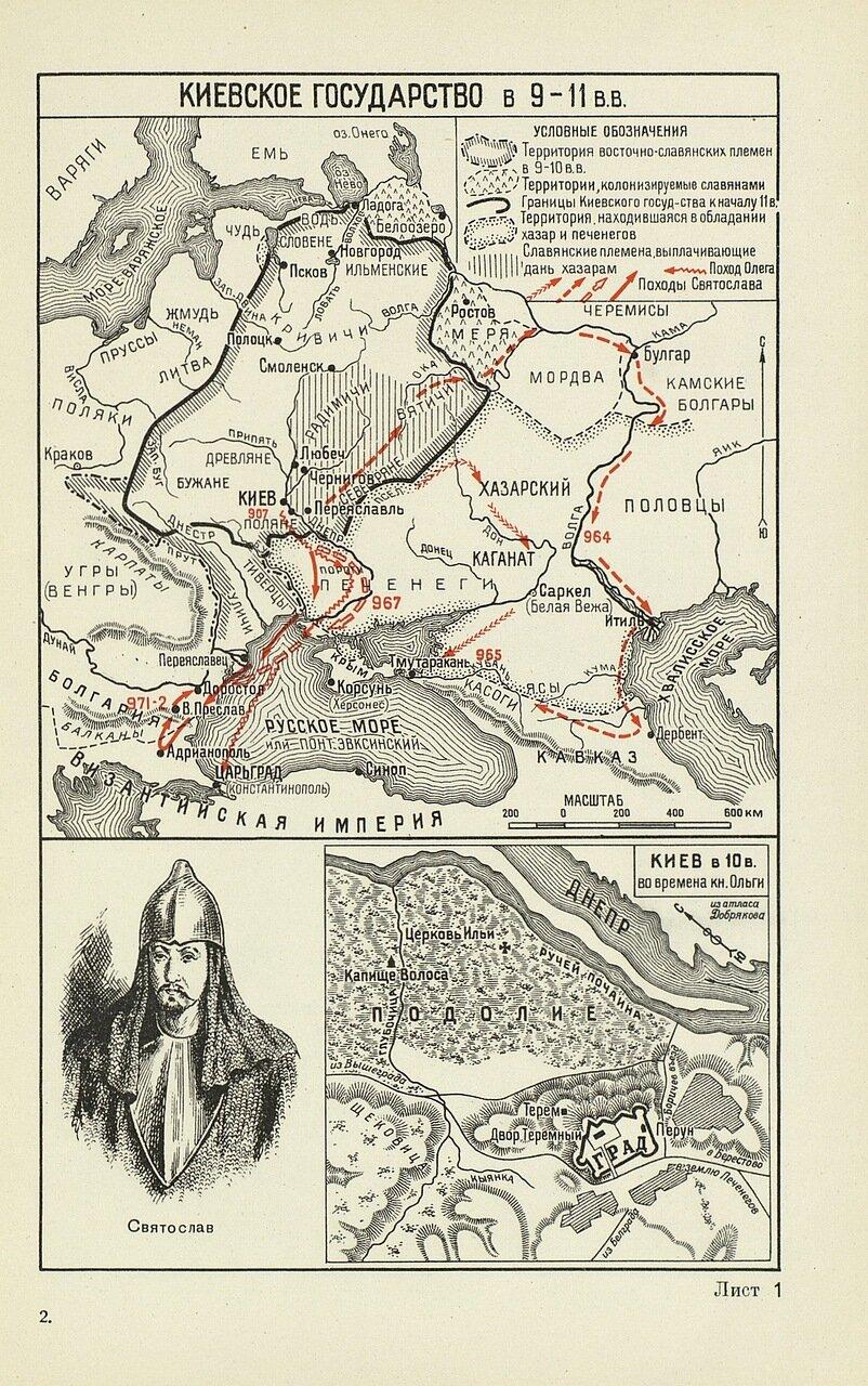 Киевское государство в 9-11 веках