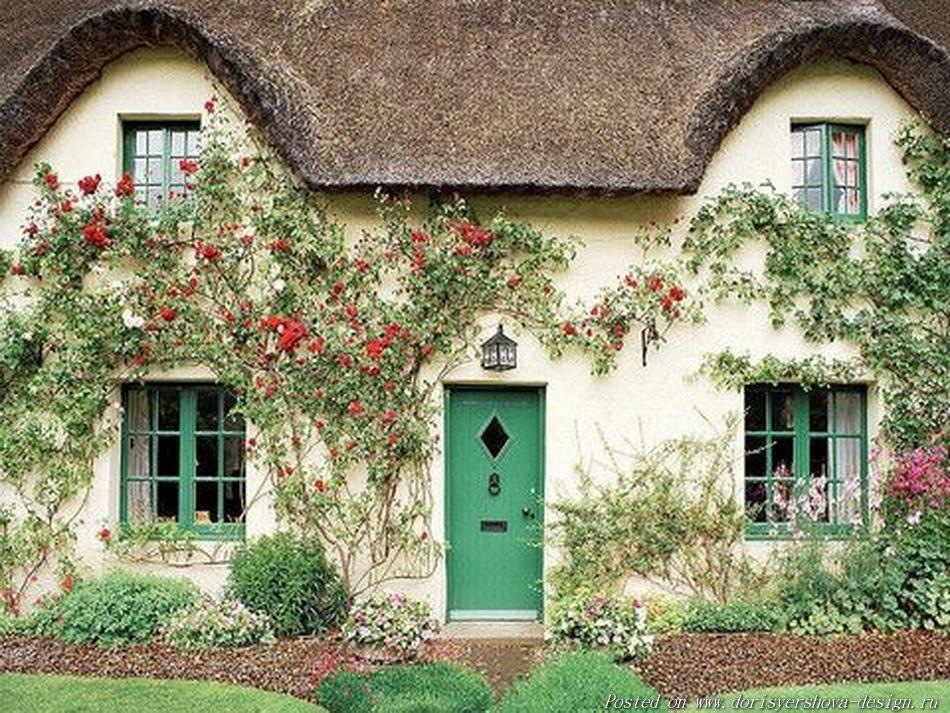 английский коттедж, английский деревенский сад, соломенные кровли,  соломенные крыши, камышовые крыши, стиль английского коттеджа, заросший сад английского коттеджа, ландшафтный дизайн, ландшафтная архитектура, цветы, розы, великобритания, архитектура