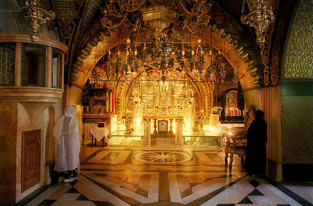 Схема храма Гроба Господня