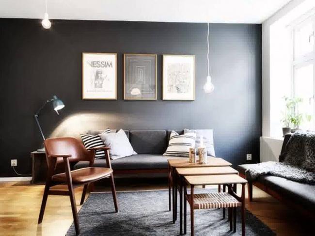 Выделив более насыщенным цветом одну или несколько стен, высоздадите объем, которого так нехватает