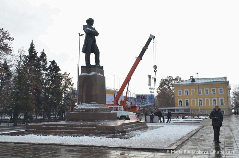 Установка хануки, Саратов, 15 декабря 2014 года