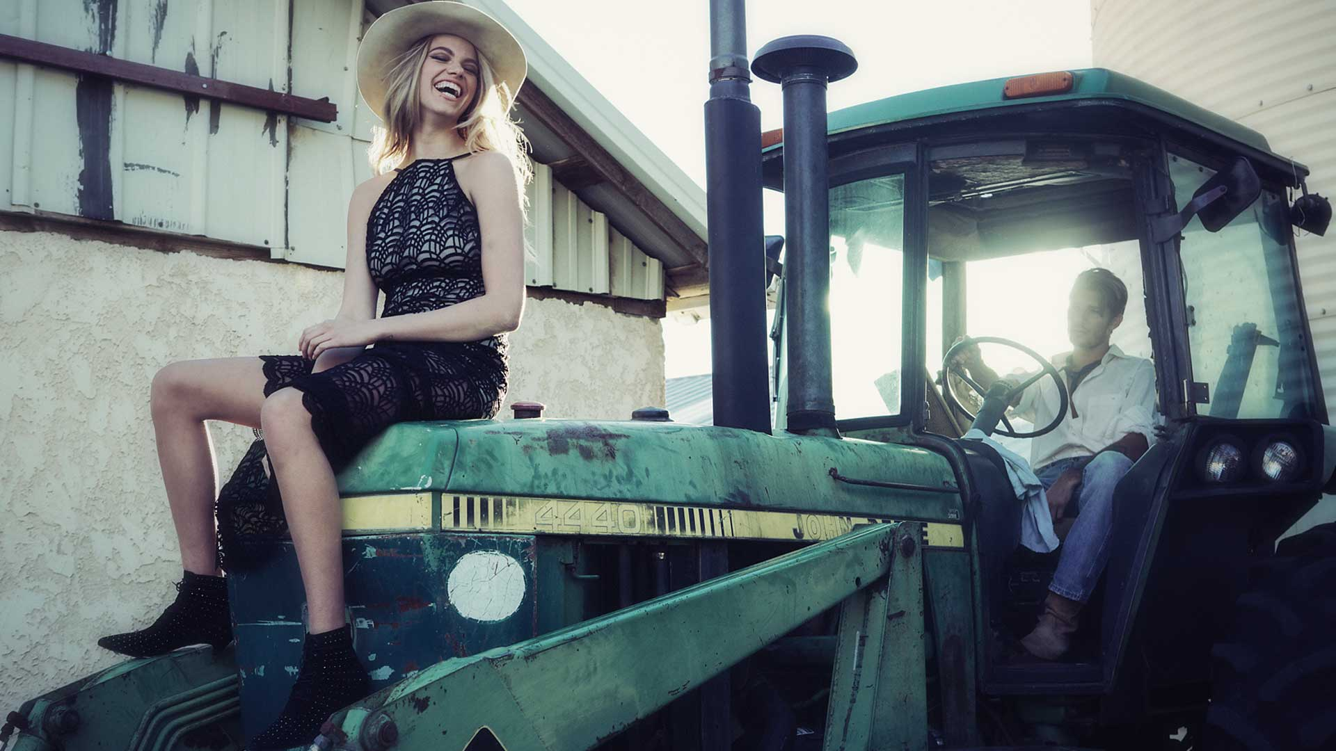 Андрей Захаров и Хейли Клоусон / Hailey Clauson by Harper Smith for The Stone Cold Fox spring 2015