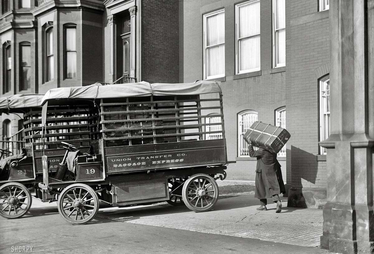 Специализированные транспортные средства начала 20-го века на снимках американских фотографов (19)