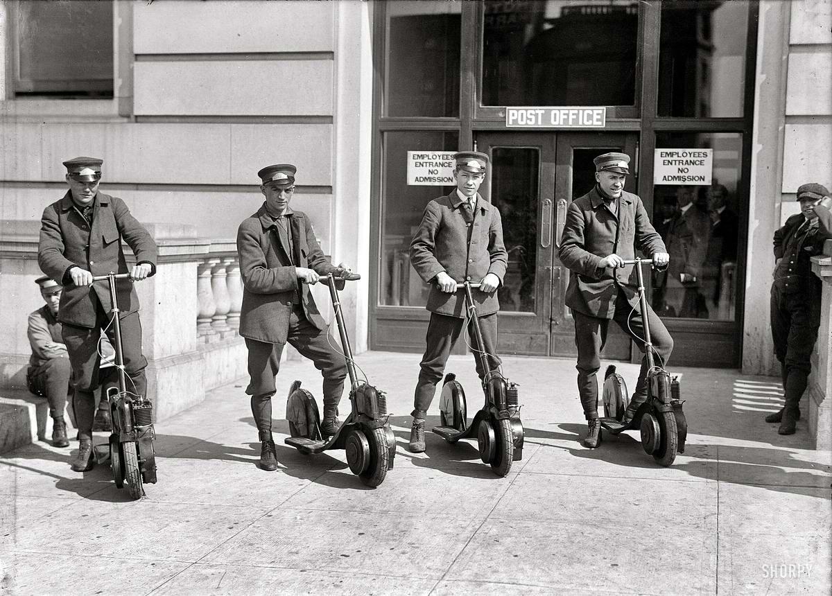 Специализированные транспортные средства начала 20-го века на снимках американских фотографов (20)