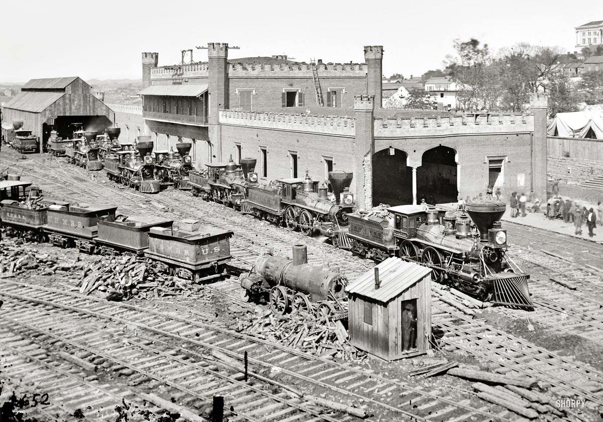 Железные дороги конца 19-го - начала 20-го века на снимках американских фотографов (4)