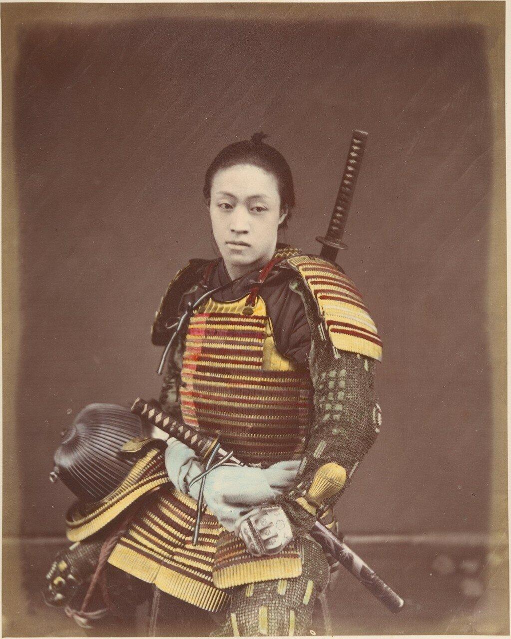 Актер в самурайской броне. 1870