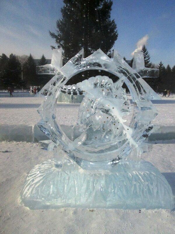 январь 2016. ледяные скульптуры
