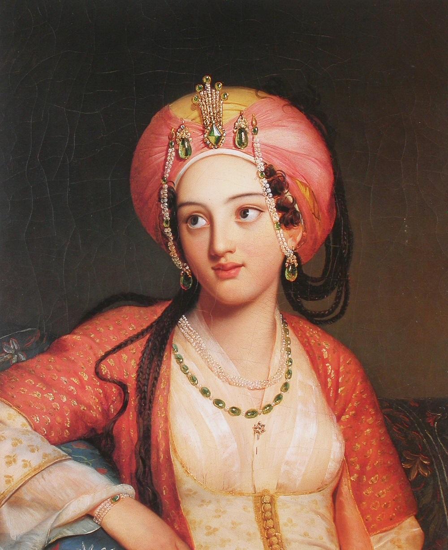 00-1 Eugène Francois Marie Joseph Devéria (French artist, 1805-1865) Roxane in Jean-Baptiste Racine's Bajazet.jpg