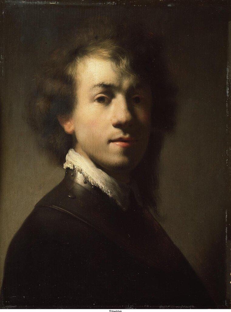 Rembrandt (окружение) - Портрет Рембрандта в возрасте 23 лет, ок. 1629, 37,9 cm x 28,9 cm, Дерево, масло.jpg