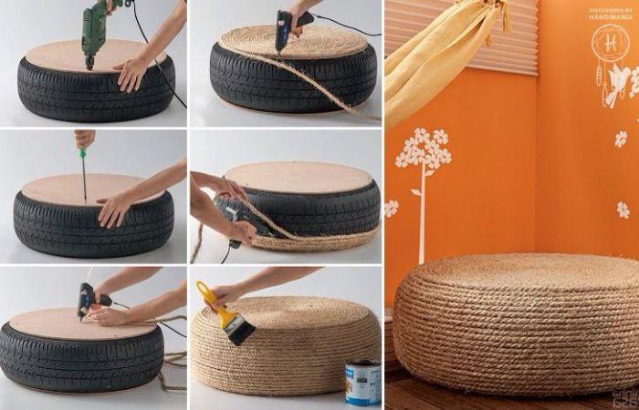 Как сделать из шин кресла