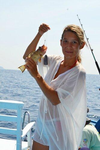 Морская рыбалка, моя первая рыба