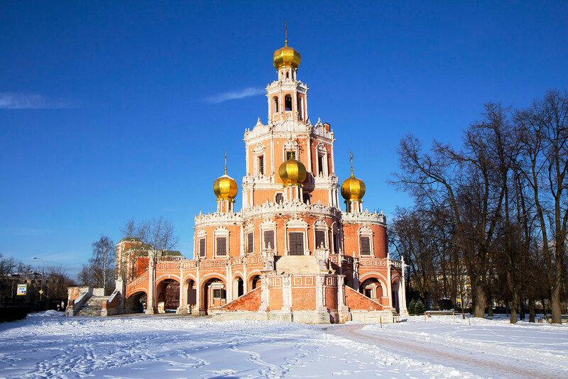 Москва.  Храм Покрова в Филях.