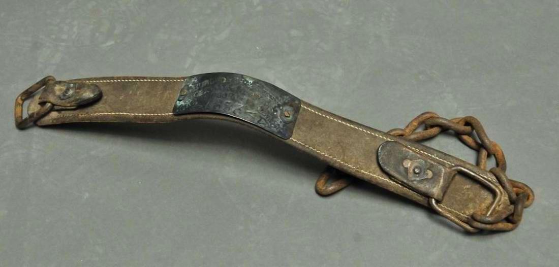 Ошейник североамериканского раба - 1853 год (1)
