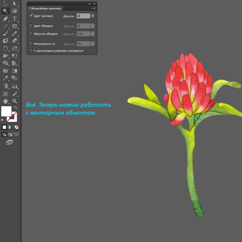 преобразование растрового изображения в векторное: