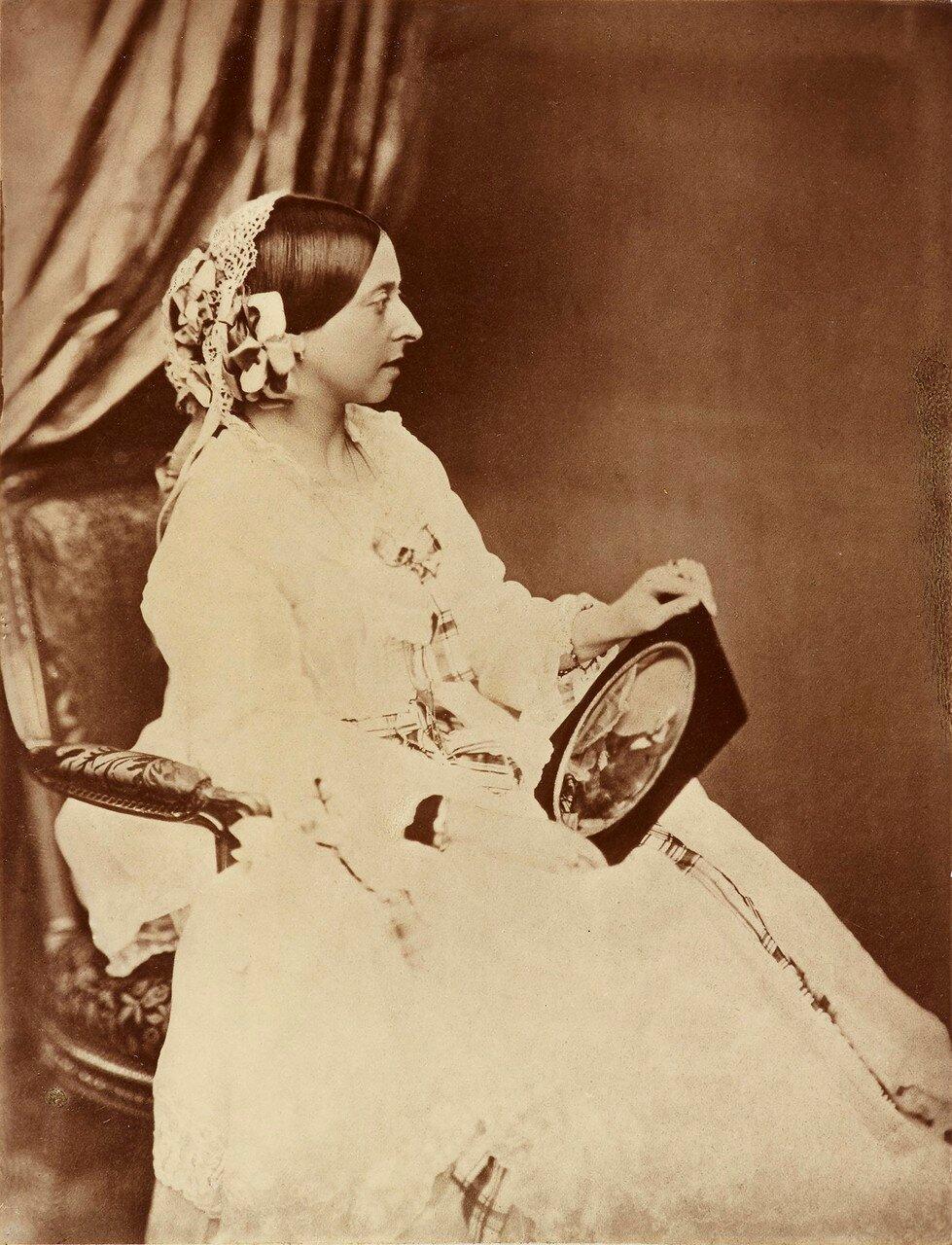 1854. Портрет королевы Виктории держащей в руках портрет принца Альберта