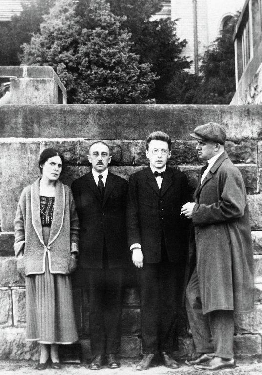 Lilya Brik, Osip Brik and Vladimir Mayakovsky in Paris, 1923.jpg