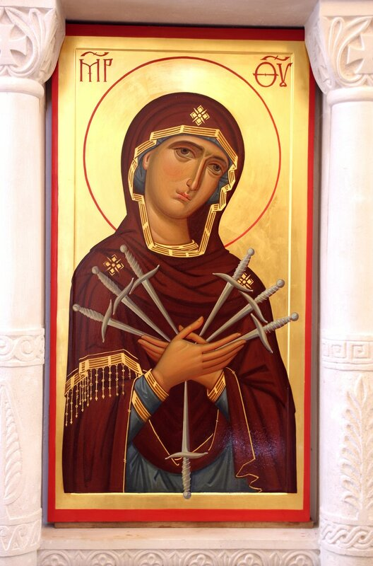 """Икона Божией Матери """"Умягчение злых сердец"""". Иконописец Наталия Пискунова."""