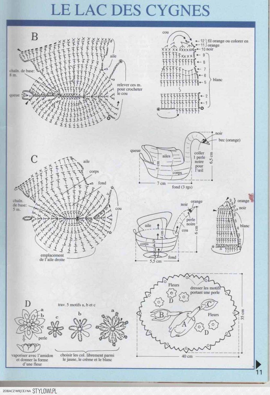 Вязание схемы описания лебедя