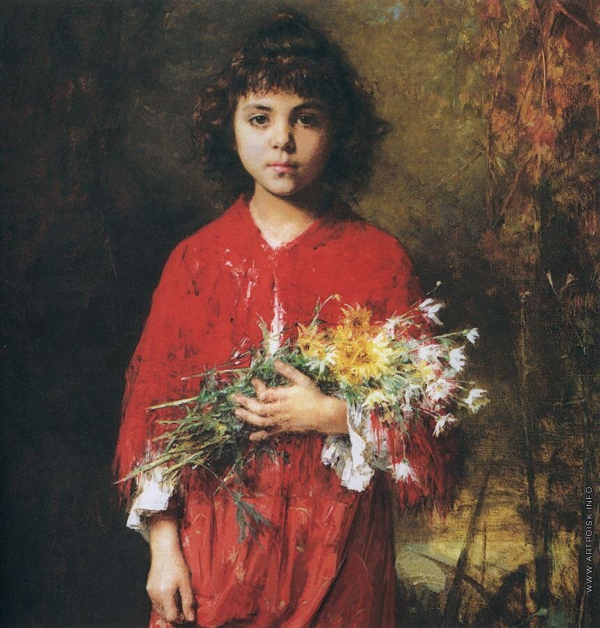 Портрет девочки с букетом цветов.jpg