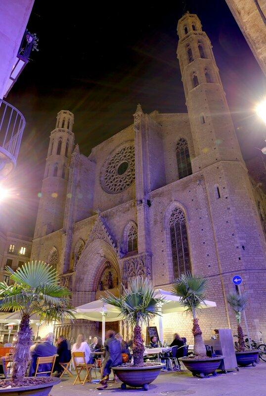 Барселона. Церковь Санта-Мария-дель-Мар (Basílica de Santa María del Mar)