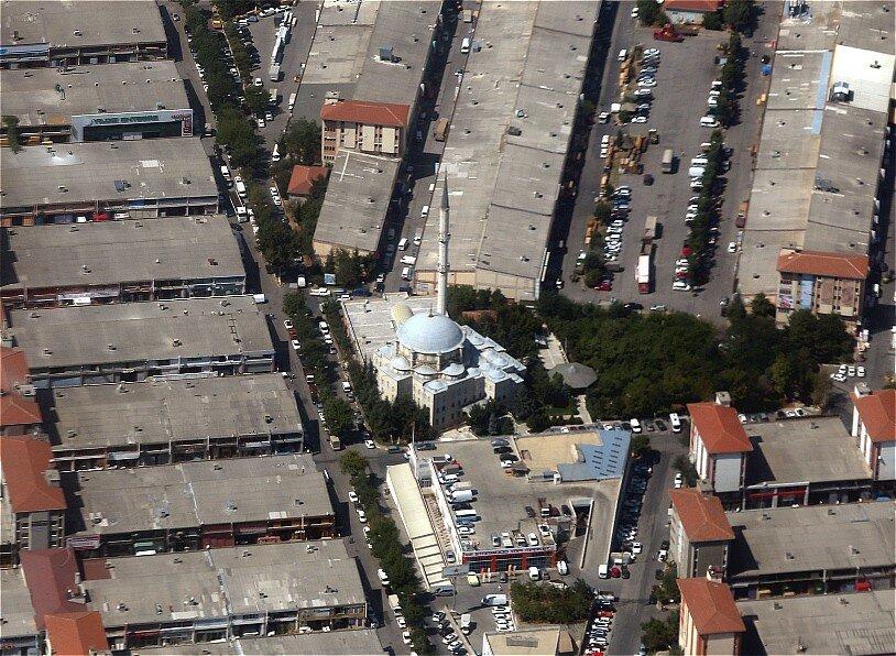 Стамбул, вид с самолета. Промзона Ikitelli