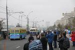 Выставка ретро-троллейбусов на Фрунзенской наб.