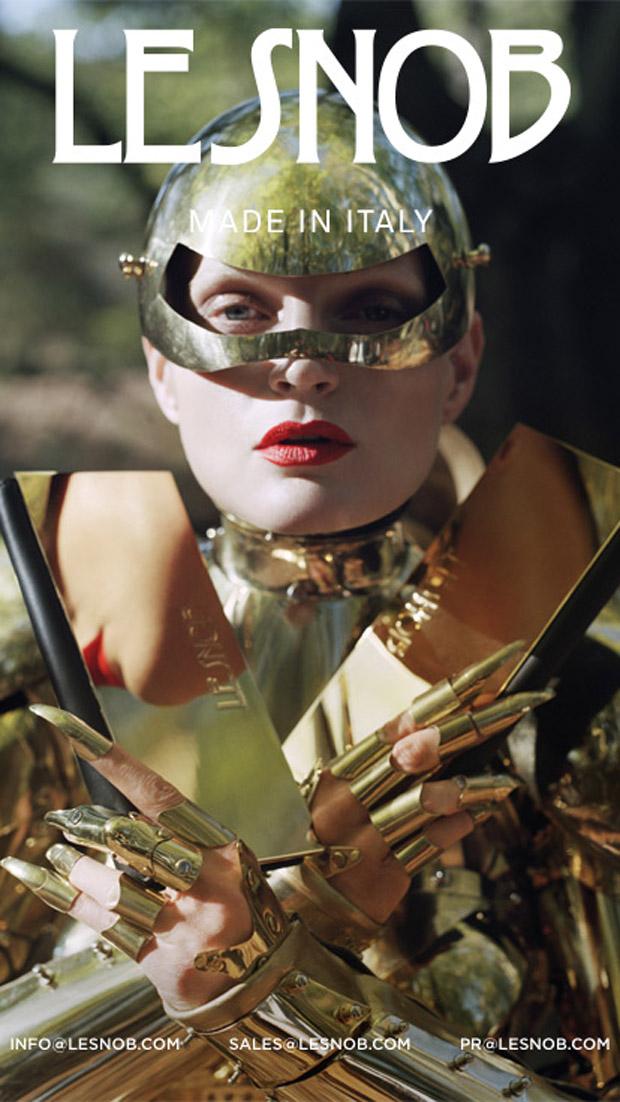 Жиневье Ван Синус (Guinevere Van Seenus) в рекламной фотосессии для Le Snob