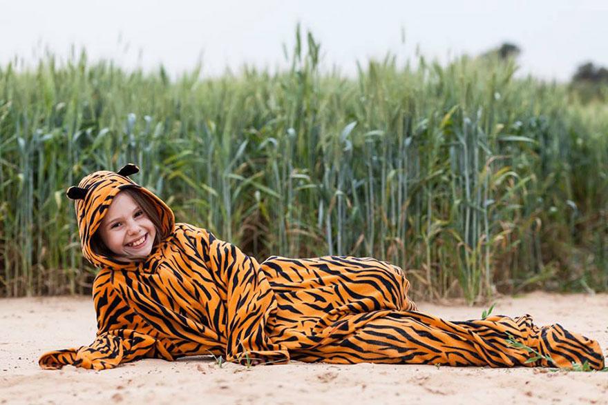 «Буду ленивой кошкой». Тигр Ева.